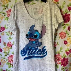 Disney Lilo and Stitch V neck graphic tee